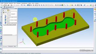 САПР Компас-3D. Копирование объектов, массив вдоль кривой