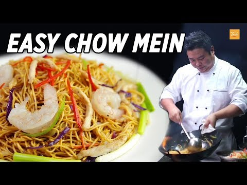 Easy Chicken Chow Mein Recipe L 雞肉炒麵