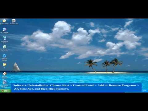 ZKTime net tutorial Chapter 1  Software Installation, Uninstallation and Registration