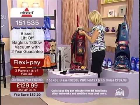 Bissell Lift Off Bagless Vacuum Cleaner Demonstration on Ideal World