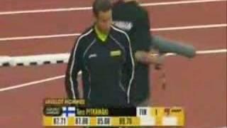 Paris Golden League  2007 javelin throw