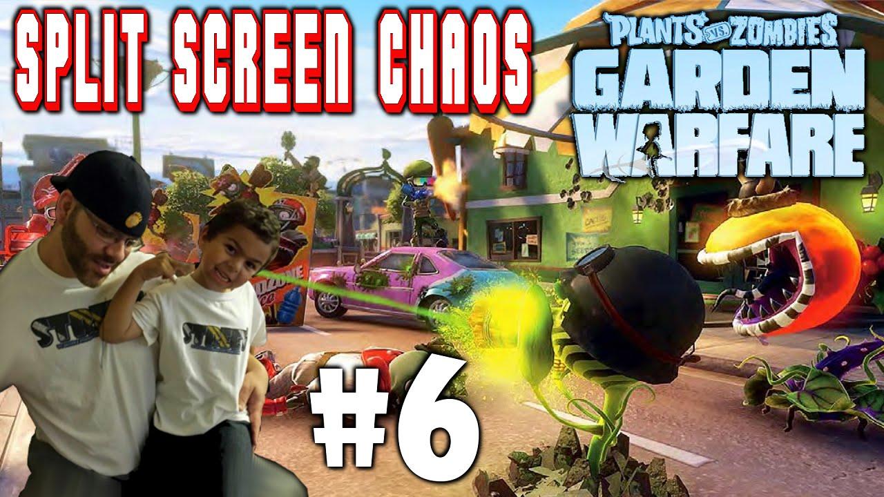 Plants Vs Zombies Garden Warfare Split Screen Chaos 6 Ps4 Street N Son Vs Zombie Scum