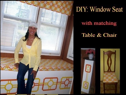 DIY: Window Seat with Storage, Cushion, Table and Curtains