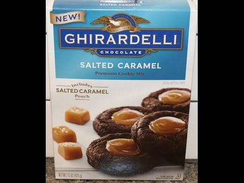 Making Ghirardelli Salted Caramel Cookies – Preparation & Review