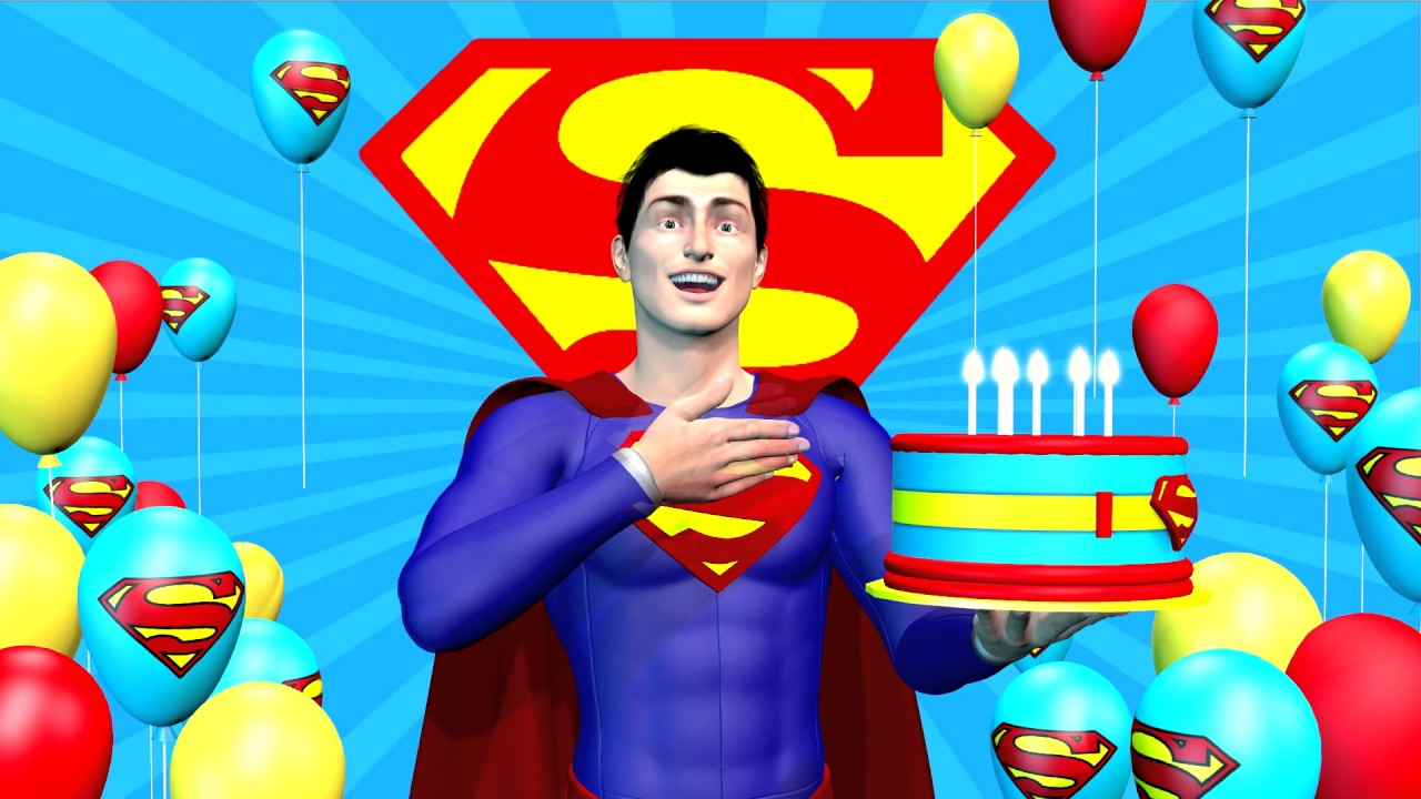 Superman Says Happy Birthday To You With Asl Youtube