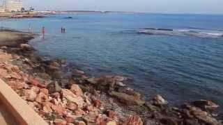 Пляжи Испании Кабо Роиг, прогулка вдоль моря, Ориуэла Коста, Cabo Roig(Купить недвижимость в Испании, виллы и дома фото и видео, цены, таунхаусы на берегу моря, бунгало недорого,..., 2013-10-29T20:23:29.000Z)