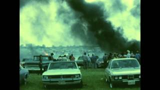 Car catches fire at 1974 Willie Nelson Picnic (Super 8 footage)