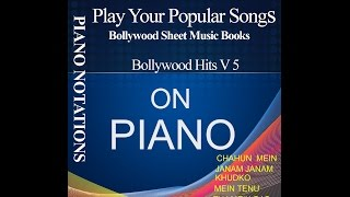 Piano SHEET MUSIC BOOK BOLLYWOOD HITS V 5 NEW SONGS BY S RAJ BALAN