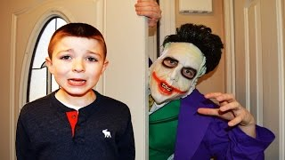 LET ME IN -  Little Superheroes comedy JOKER wants in -Kids silly family fun dance party funny video