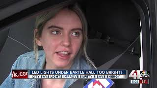 LED lights under Bartle Hall too bright for some