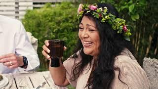 Sommarfest i kärlekens tecken med utemöbler från Hillerstorp