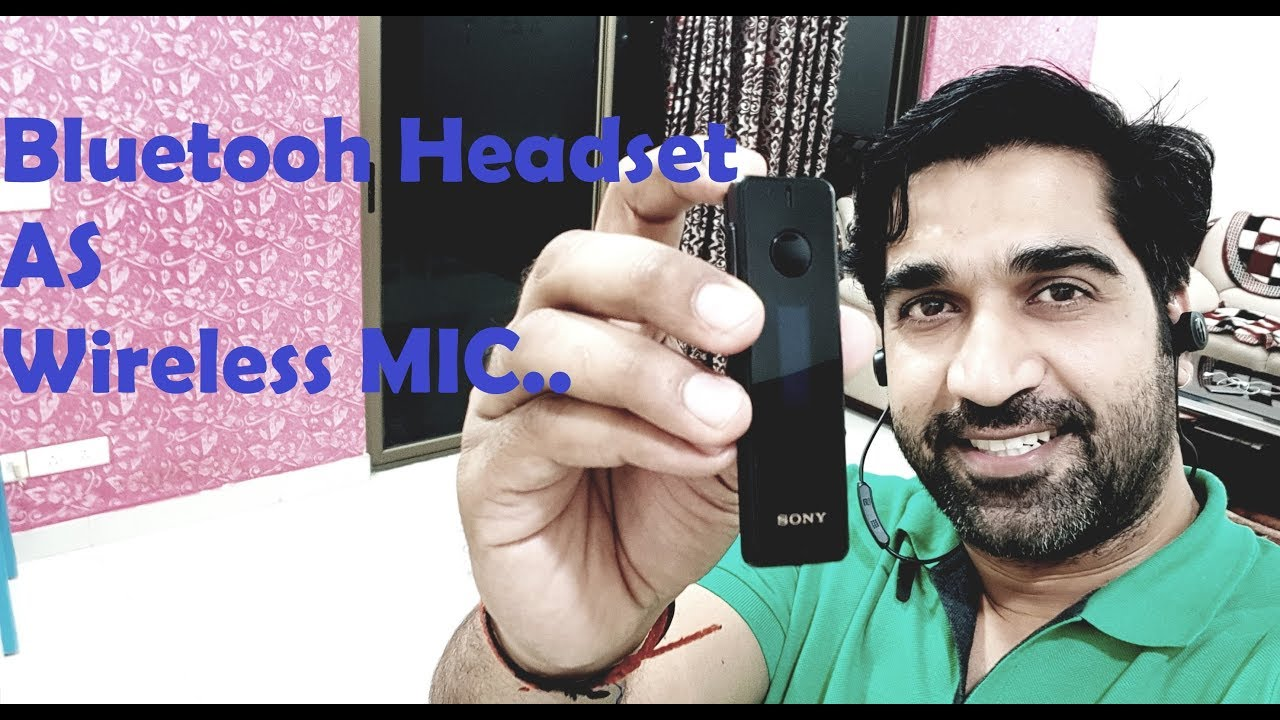 Bluetooth Headset As Wireless Mic For Video Recording Youtube