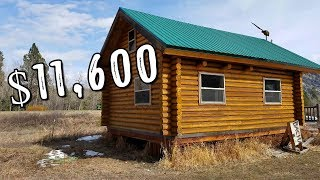 #tinyhouse Log Cabin Kit  Only $11,600