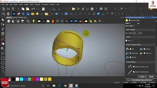 How To make a Simple Ring Design in Artcam 2018