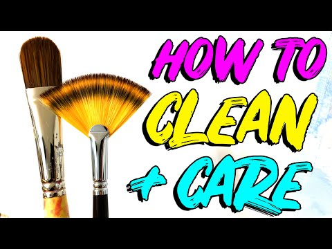 How To Clean Paint Brushes to Make Them Last Longer 🎨 Acrylic Painting for Beginners
