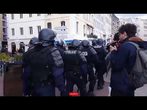 the globe Public freakout compilation - police, protestors a