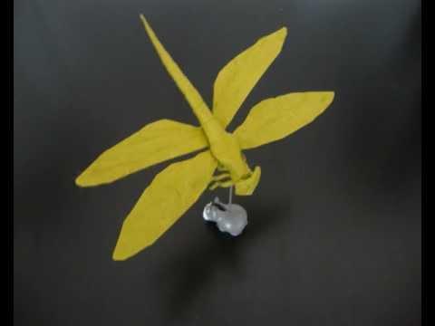 tutorial origami dragonfly