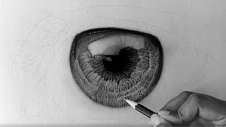 HOW TO DRAW HYPER REALISTIC EYE (PART 1) | SPEED DRAWING
