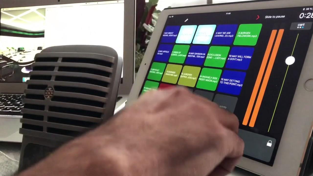Bossjock studio iOS app test. Ideal app for radio & podcasting production.