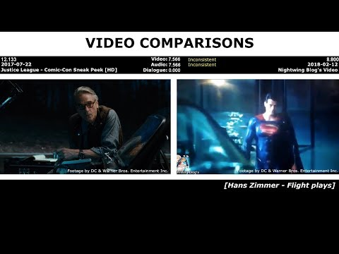 VIDEO COMPARISONS - Nightwing Blog's Video (Justice League)