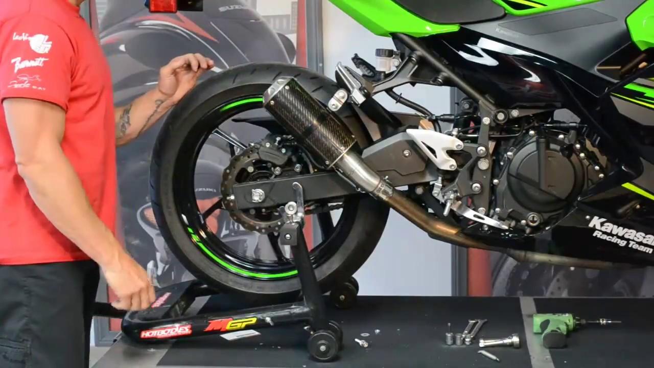 Kawasaki Ninja 400 Exhaust Install