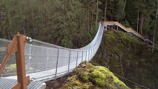 Building Elk Falls Suspension Bridge by the Rotary Club of Campbell River