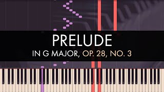 Frédéric Chopin - Prelude No. 3 in G Major, Op. 28 (Synthesia)