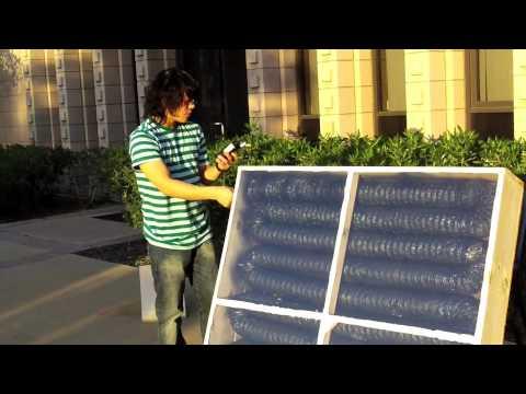 Solar Air Heater - Harvey Mudd College - Kona Coffee Farmers Association clinic team