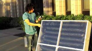 Solar Air Heater - Harvey Mudd College - Kona Coffee Farmers Association clinic team