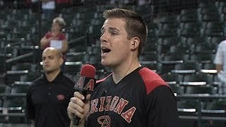 Dan Spindle sings National Anthem at Arizona Diamondbacks game