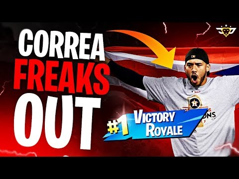BASEBALL SUPERSTAR CORREA FREAKS OUT! HOW DID I WIN THIS?! (Fortnite: Battle Royale)