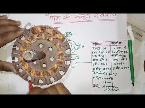 फैन मोटर की सम्पूर्ण बाइंडिंग करे, सावधानियां , How To Bainding Any Fain Moter In Hindi