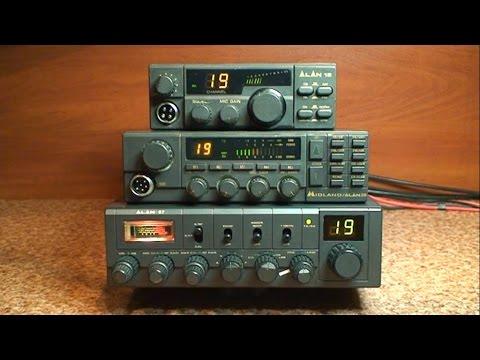 Kultowe cb radio firmy Midland - Alan 18 - Alan 28 - Alan 87
