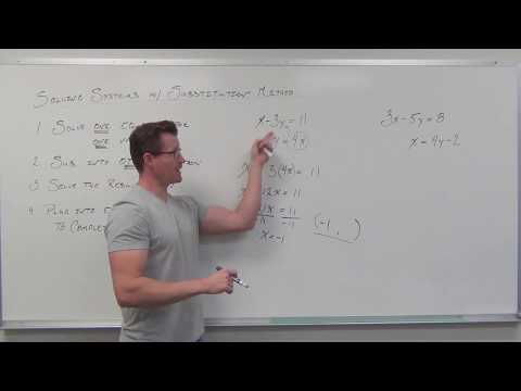 Solving Systems of Linear Equations by Substitution (TTP Video 49)