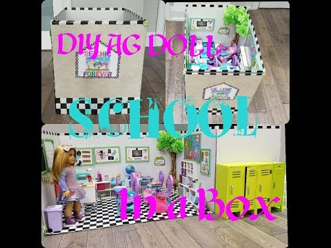 DIY American Girl Doll Classroom/School In A Box