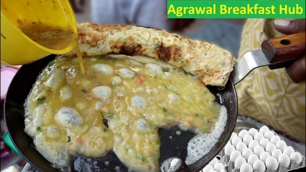 Ultimate Cheese Omelette Roll Making | Famous Agrawal Breakfast Hub of Nagpur | Indian Street Food