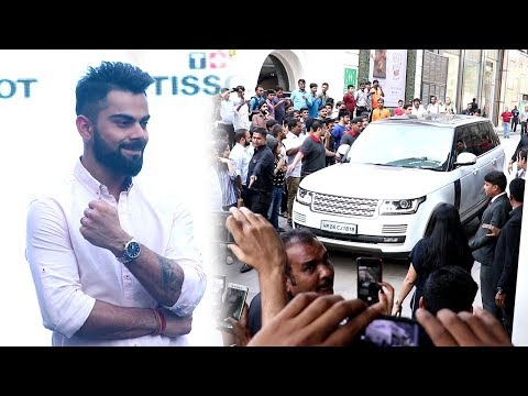 Virat Kohli's GRAND ENTRY At Phoenix Mall In Mumbai To Launch Tissot's New Store