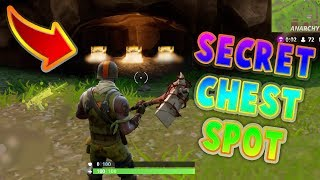 SECRET CHEST SPOT FOUND! (0.01% KNOW WHERE THIS IS) FORTNITE BATTLE ROYALE