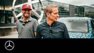 JP Kraemer und Matthias Malmedie: Mitfahrt im EQC-Erlkönig