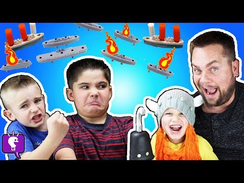 BATTLESHIP GAME! Who Wins this Super Fast Blast Game with HobbyKids?