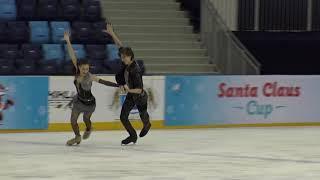 2017 Santa Claus Cup : Elizaveta SHANAEVA -Devid NARIZHNYY(RUS)-ID JUNIOR FREE DANCE