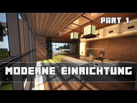 Minecraft Moderne Einrichtung Bauen Tutorial Part 1 Luchshie