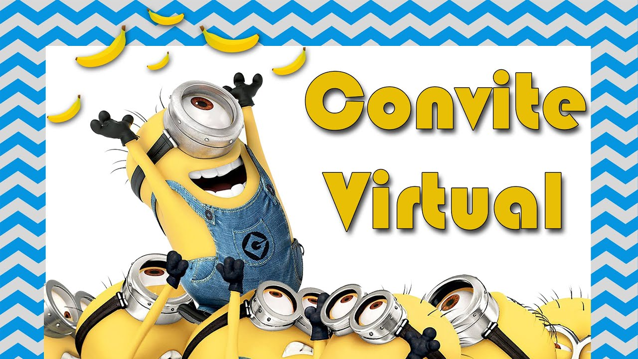 Suficiente CONVITE VIRTUAL MINIONS - YouTube AK57