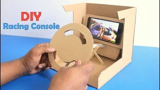 How to Make Car Racing Console from Cardboard ! DIY Car Racing Desktop Game at Home !