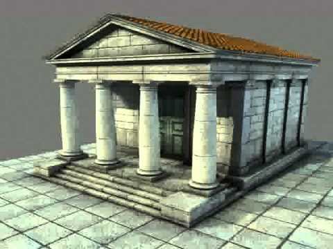 3d Model Of Low Mid Poly Roman Temple 1 Review Youtube