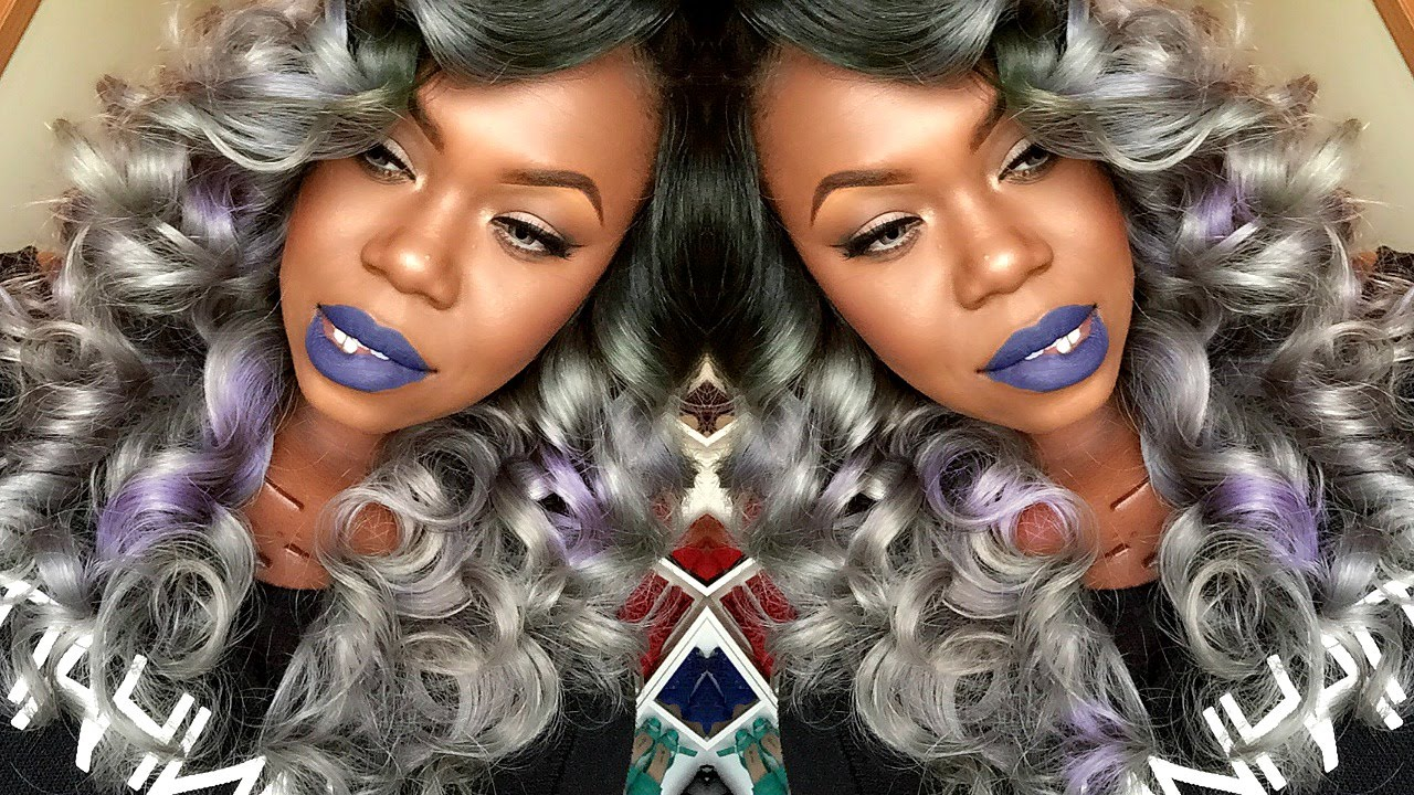 Tutorial| Gray Hair w/ Lavender Highlights (Full Color/Styling ...