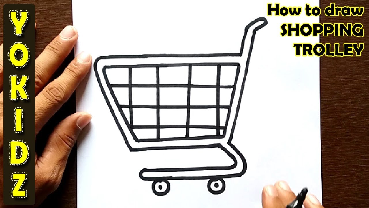 It is a graphic of Adaptable Shopping Cart Drawing