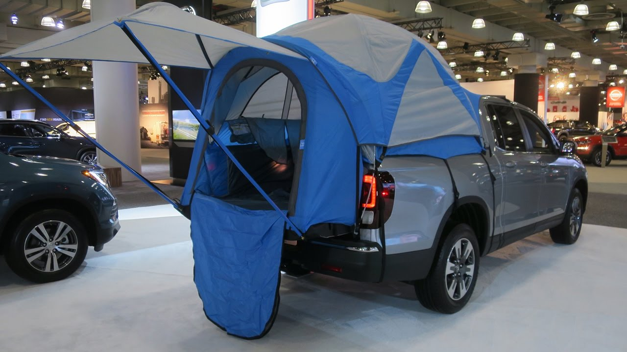 HAPPY GLAMPERS - CUSTOM BED TENT NOW AVAILABLE FOR HONDA RIDGELINE - YouTube