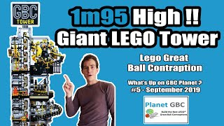 1m95 High! - Giant Tower Lego Great Ball Contraption (GBC) - What's Up on GBC Planet? #5