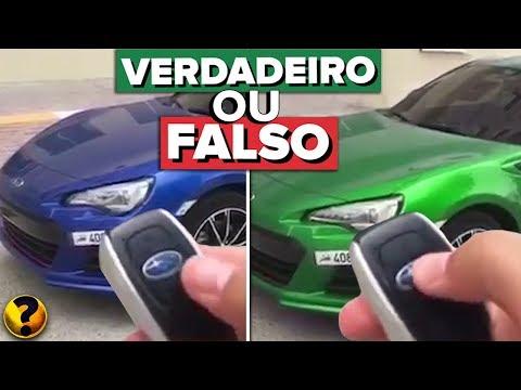 CARRO QUE MUDA DE COR COM UM BOTÃO - VERDADEIRO OU FALSO??